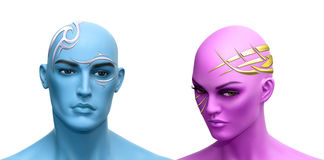 Futuristic glamour Stock Photo