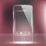 Futuristic Glass Cell Phone Stock Images