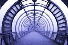 Futuristic glass corridor Royalty Free Stock Images