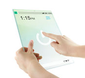 Futuristic glass digital tablet Royalty Free Stock Images