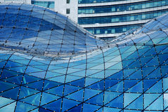 Futuristic glass roof Stock Image