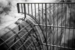 Futuristic glass skyscraper