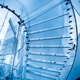 Futuristic glass staircase Stock Image