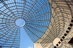Futuristic glass-steel dome Stock Images