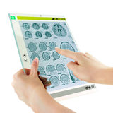 Futuristic glass tablet Royalty Free Stock Photography