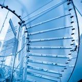 futuristic glass trappuppgång Fotografering för Bildbyråer