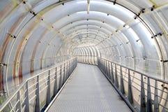 futuristic glass tunnel Royaltyfria Bilder