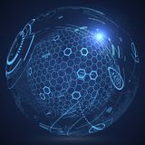 Futuristic globalization interface. Futuristic globalization interface, a sense of science and technology abstract graphics Royalty Free Stock Photography