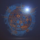 Futuristic globalization interface. Futuristic globalization interface, a sense of science and technology abstract graphics Stock Images