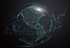 Futuristic globalization interface. Futuristic globalization interface, a sense of science and technology abstract graphics Stock Image