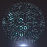 Futuristic globalization interface. Futuristic globalization interface, a sense of science and technology abstract graphics Stock Photos