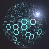 Futuristic globalization interface. Futuristic globalization interface, a sense of science and technology abstract graphics Royalty Free Stock Image