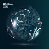 Futuristic Globalization Interface. Modern Earth Concept. Technological Digital Globe World Stock Photo