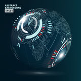 Futuristic Globalization Interface. Vector Illustration. Technology Background For Computer Graphic Website And Business.  Stock Images