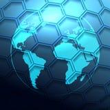 Futuristic Globe Background Royalty Free Stock Photos