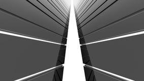 Futuristic glossy black architecture background stock video footage