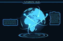 Futuristic glowing background vector illustration. Illustartion of futuristic glowing background vector illustration Royalty Free Stock Photos