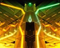 Futuristic Glowing Building