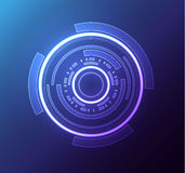 Futuristic glowing hud element eps 10 Royalty Free Stock Photography
