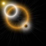 Futuristic glowing light flare background design Stock Image