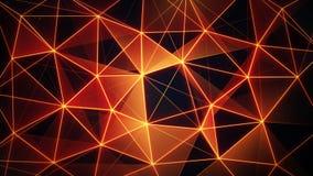 Futuristic glowing orange network mesh Royalty Free Stock Photography