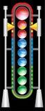 Futuristic Goal Meter Stock Photography