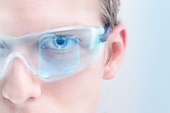 Futuristic goggles Stock Photos