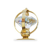 Futuristic golden prize isolated over white Royalty Free Stock Image