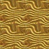 Futuristic Golden Seamless Pattern Stock Photos