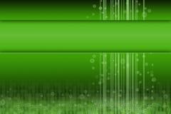 futuristic grön lokal för content design Arkivbild