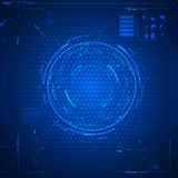 Futuristic graphic user interface. Vector illustration Stock Photos
