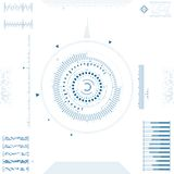 Futuristic graphic user interface. Vector illustration Royalty Free Stock Images