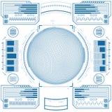 Futuristic graphic user interface. Vector illustration Stock Image