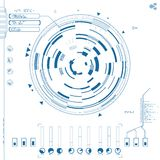 Futuristic graphic user interface. Vector illustration Stock Photo
