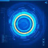 Futuristic graphic user interface Stock Images
