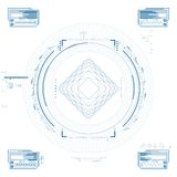 Futuristic graphic user interface Royalty Free Stock Photos