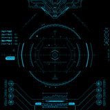 Futuristic Graphic User Interface. Stock Photography