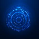 Futuristic graphic user interface Stock Image