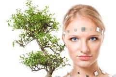 Futuristic green beauty Stock Photography