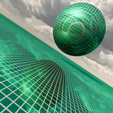 Futuristic green building Royalty Free Stock Image