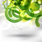 Futuristic green design Stock Images