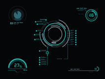 Futuristic green infographics Stock Images