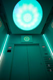 Futuristic green lift Stock Photo