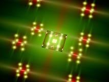 Futuristic green processor core Royalty Free Stock Photography
