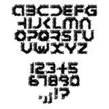 Futuristic grunge alphabet. Font isolated - illustration Stock Photography