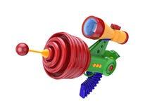 Futuristic gun. Fantastic toy gun on white background Stock Photography
