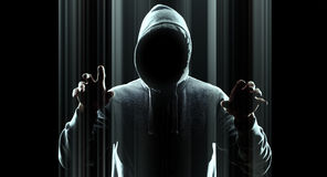 Futuristic hacker attack virtual cybercrime Stock Images