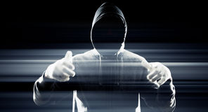 Futuristic hacker hacking system security Stock Image