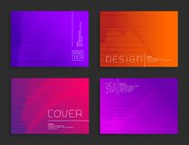 Futuristic halftone poster templates. Abstract vector colorful backgrounds. Cover, brochure, flyer minimalistic design Stock Photos
