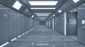 Futuristic hall alien spaceship Stock Photography